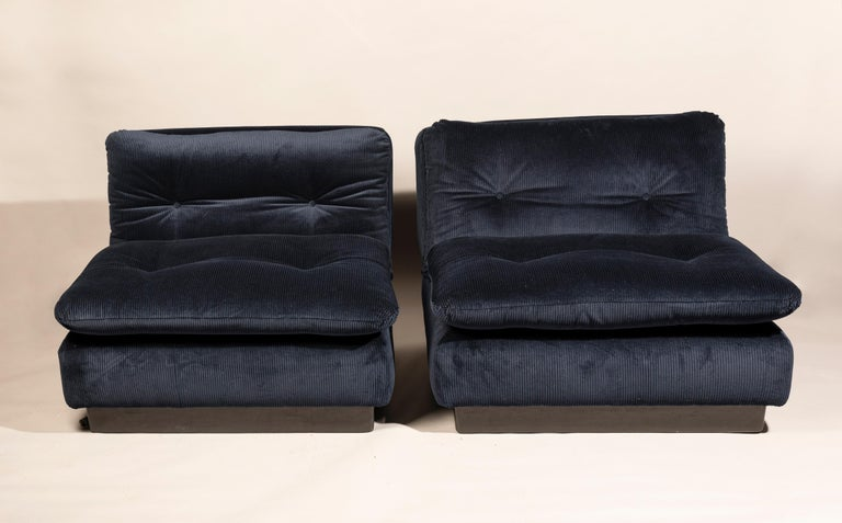 Saporiti Italia Pair of Lounge Chairs, 1970s For Sale 2