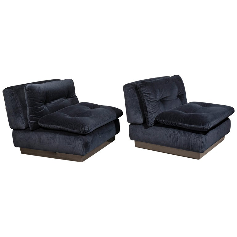 Saporiti Italia Pair of Lounge Chairs, 1970s For Sale
