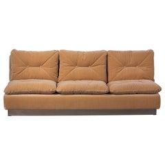 Saporiti Italia Sofa, Italy 1970s, Reupholstered in Kerry Joyce Velvet