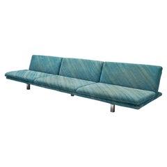 Saporiti Large Sofa in Green-Blue Fabric