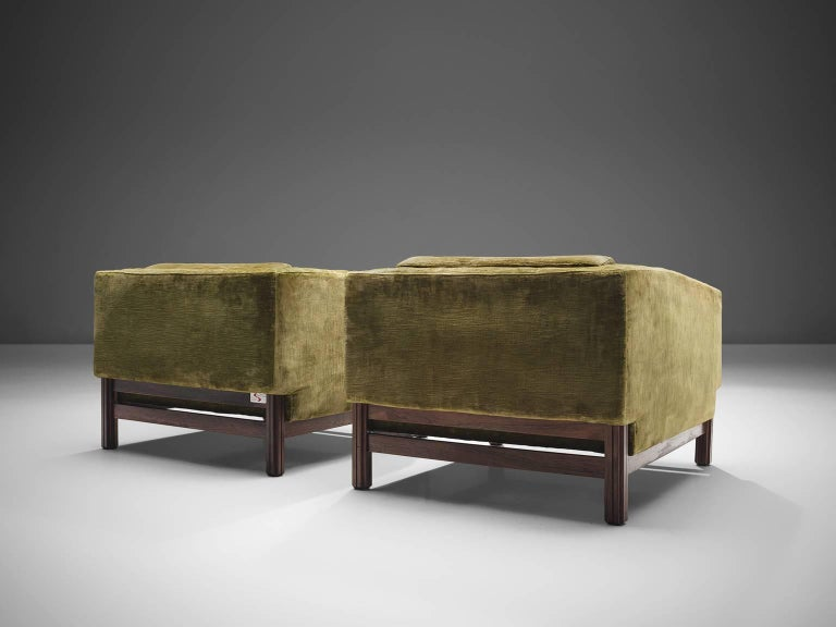 Saporiti Living Room Set in Original Velvet For Sale 1
