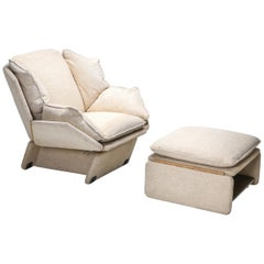 Saporiti Lounge Chair with Ottoman
