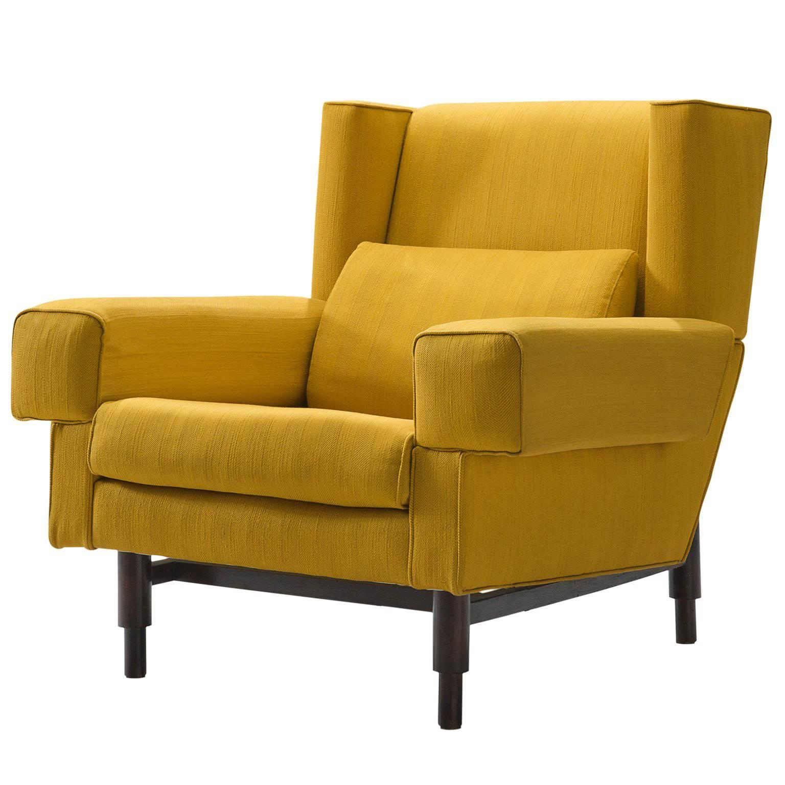 Saporiti Yellow Lounge Chair circa 1950 at 1stdibs