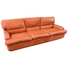 Saporitti 1970s Italian Leather Sofa