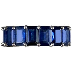 Hammerman Sapphire Half  Eternity Ring