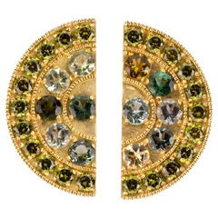 Sapphire 18 Karat Gold Earrings
