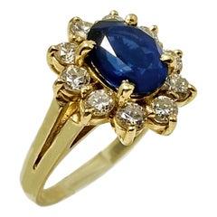 Sapphire 2.25 Carat Diamond Cocktail Ring