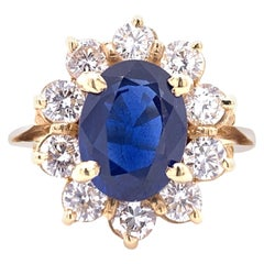 Sapphire 2.25 Carat Diamond Cocktail Ring