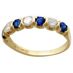Sapphire and Diamond Yellow Gold Dress Ring 1976