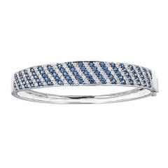 Sapphire and Diamond 14 Karat Gold Bangle