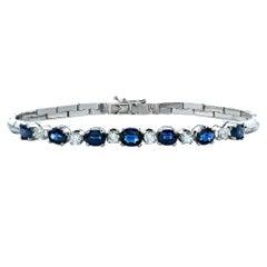 Sapphire and Diamond 18 Karat Bracelet