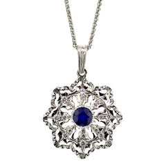Sapphire and Diamond 18kt Pendant, Made in Italy by Cynthia Scott