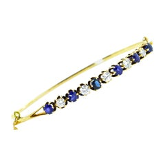 Sapphire and Diamond Bangle Bracelet, circa 1920
