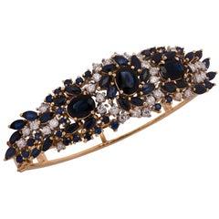 Sapphire and Diamond Bangle Bracelet