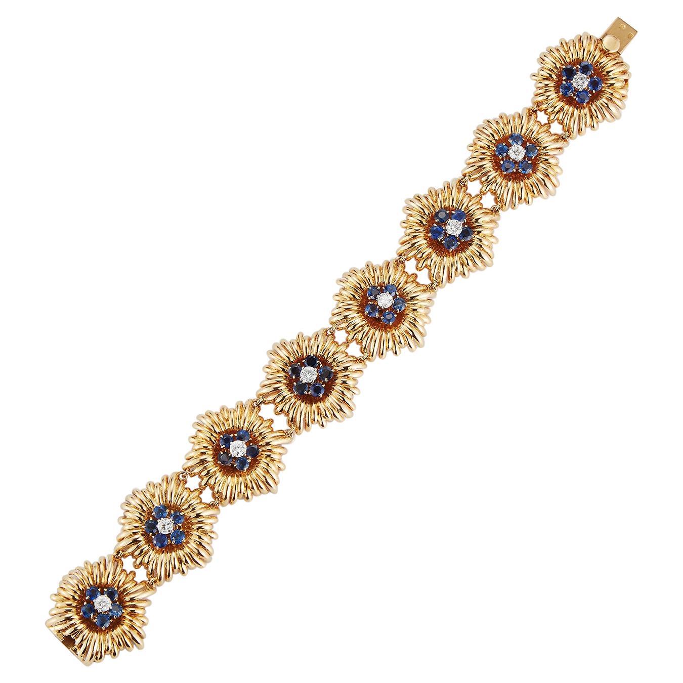 Sapphire and Diamond Bracelet by Van Cleef & Arpels