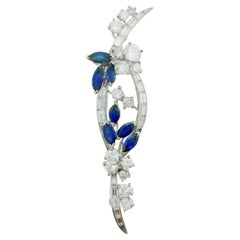 Sapphire and Diamond Brooch by Oscar Heyman and Brothers