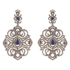 Sapphire and Diamond Cocktail Earrings