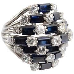 Saphir und Diamant Cocktail Ring