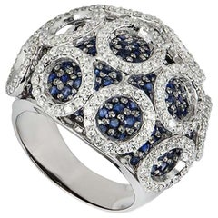 Sapphire and Diamond Dress Dome Ring