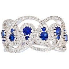 Sapphire and Diamond Drop Ring