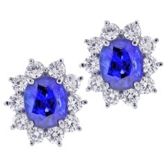 Sapphire and Diamond Earrings from Pampillonia