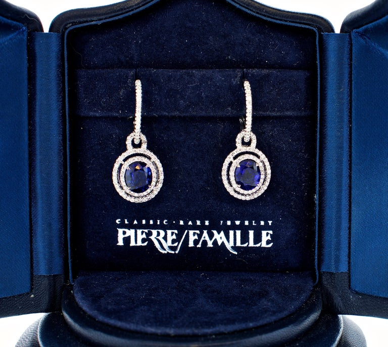 Sapphire and Diamond Earrings, Pierre/Famille 4