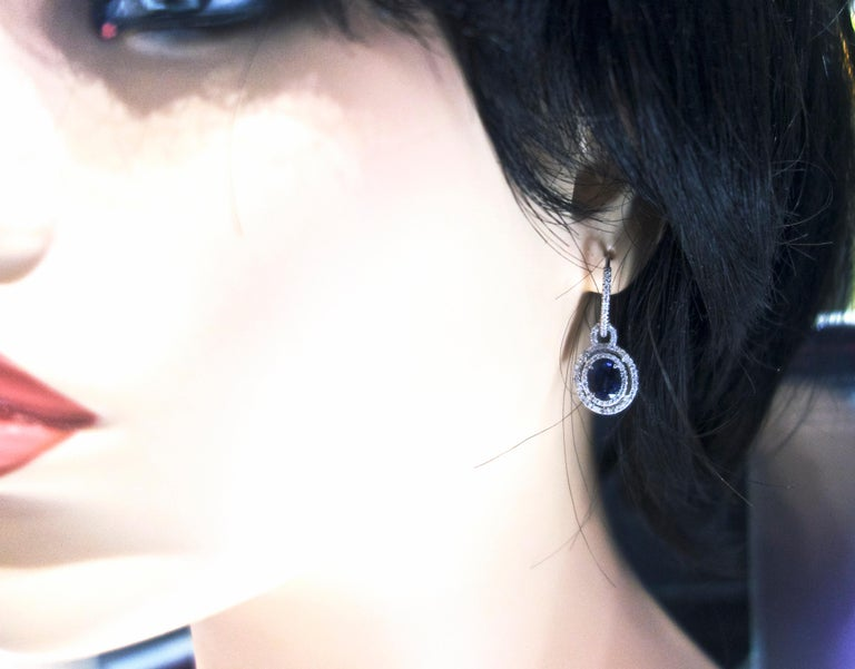 Sapphire and Diamond Earrings, Pierre/Famille In New Condition For Sale In Aspen, CO