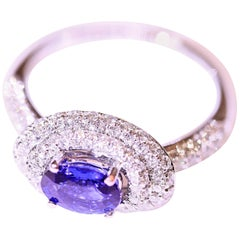 Sapphire and Diamond Engagement Ring or Right Hand Fashion Ring