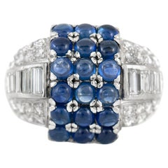 3.50 Carat Sapphire and 2.50 Carat Diamond Fashion Ring