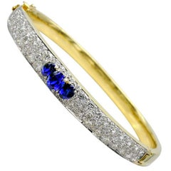 Sapphire and Diamond Gold Bracelet