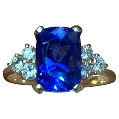 Sapphire and Diamond Gold Cocktail Ring