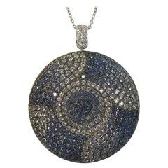 Sapphire and Diamond Medallion
