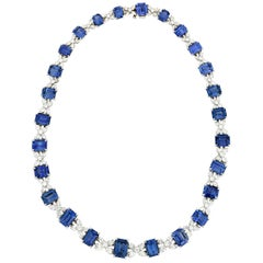 Sapphire and Diamond Necklace by Oscar Heyman