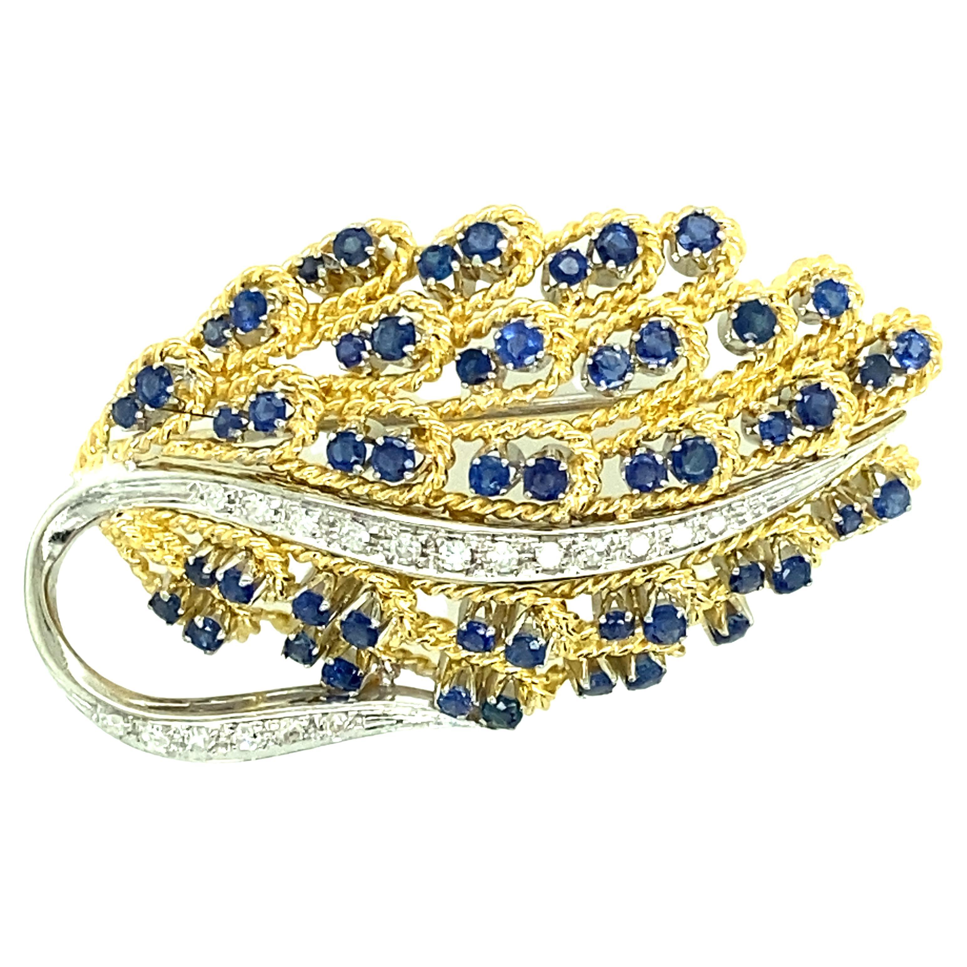 Sapphire and Diamond Pin