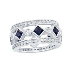 Sapphire and Diamond Ring 3.40 Carat