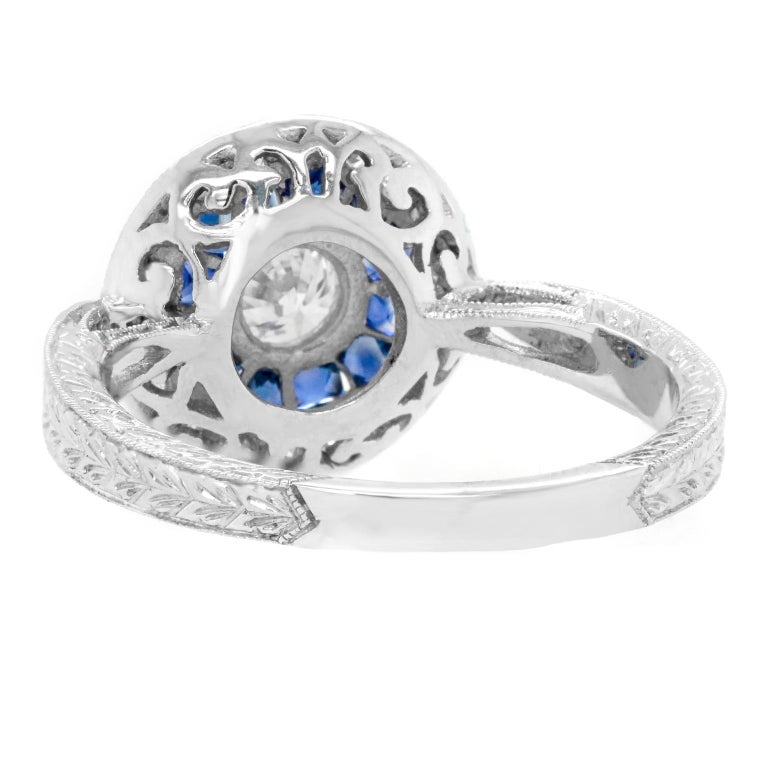 Sapphire and Diamond Ring For Sale 1