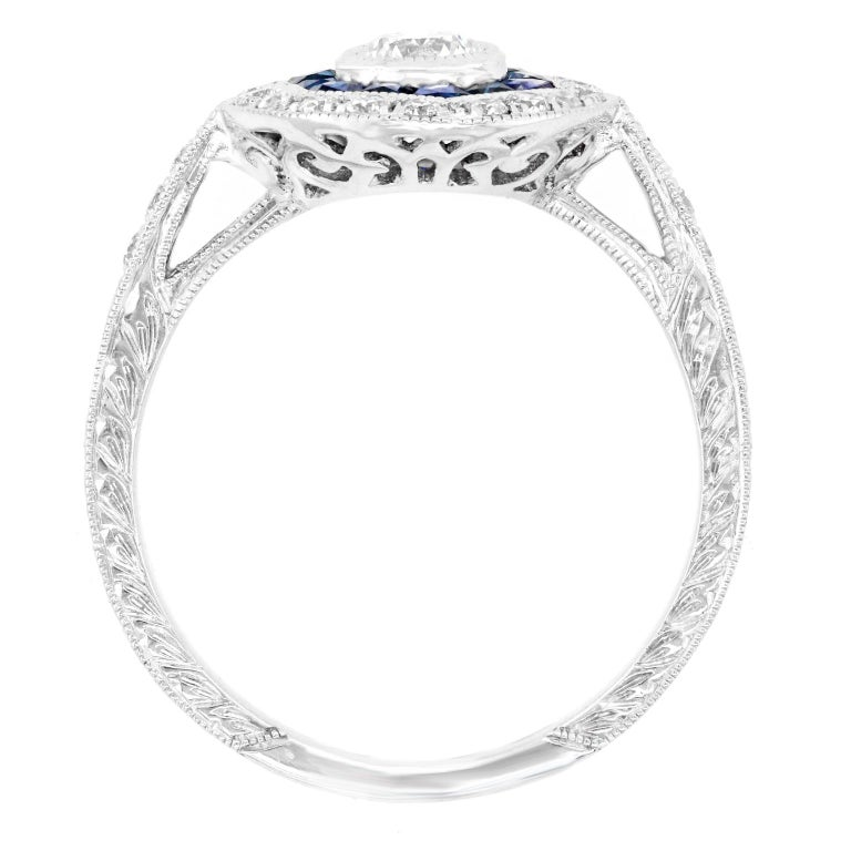 Sapphire and Diamond Ring For Sale 3