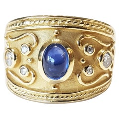 Sapphire and Diamond Ring Yellow Gold