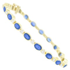 Sapphire and Diamond-Set Gold Bracelet