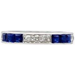Sapphire and Diamond White Gold Full Eternity Ring