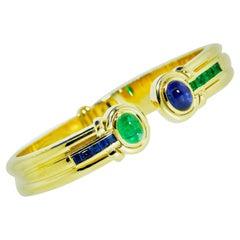 Sapphire and Emerald Bracelet, circa 1965