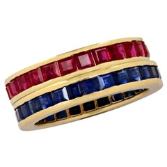 Sapphire and Ruby Band Set