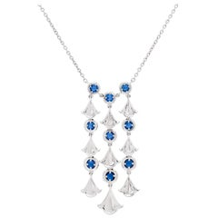 Sapphire and White Gold Necklace by Marina B.