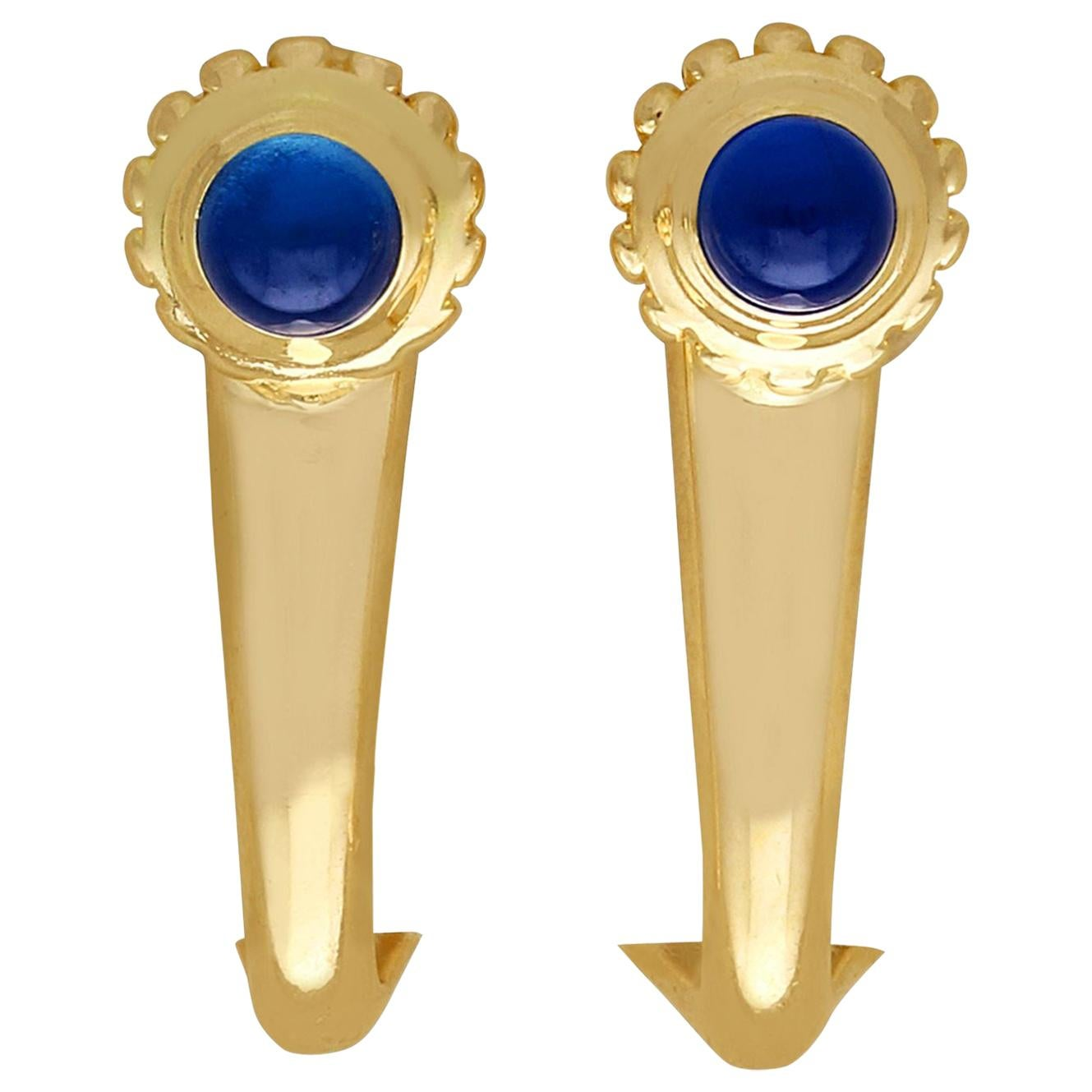 Sapphire and Yellow Gold Earrings by Cartier