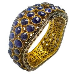 Maharaja 70 Carat Fancy Cut Sapphire Bangle Bracelet