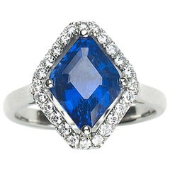 Sapphire, Diamond and Platinum Ring, 4.81 Carat