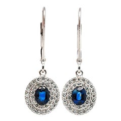 Sapphire Diamond Dangle Earrings