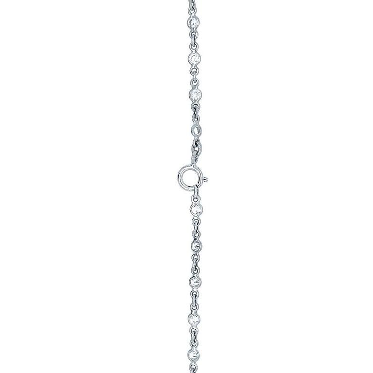 Sapphire Diamond Flower Necklace For Sale 1