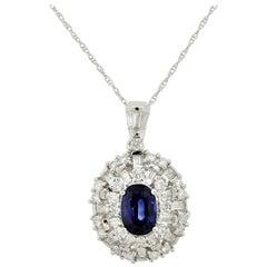 "Sapphire Diamond Gold ""Snowflake"" Pendant"