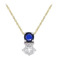 Sapphire Diamond Pendant Necklace